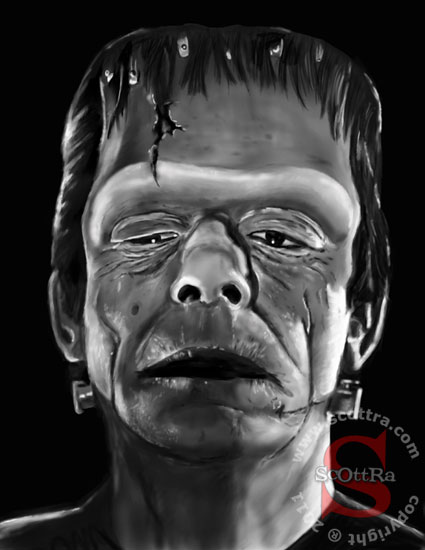 Glenn Strange as the Frankenstein Monster